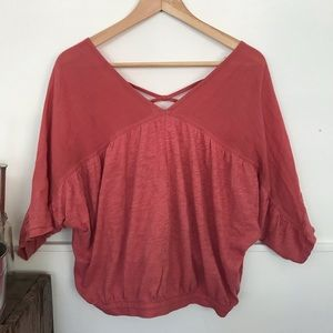 Gap loose dusty rose top